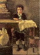 Mancini, Antonio The Poor Schoolboy oil painting artist